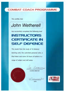 Instructor Self Defence