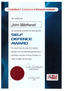Self Defence Award